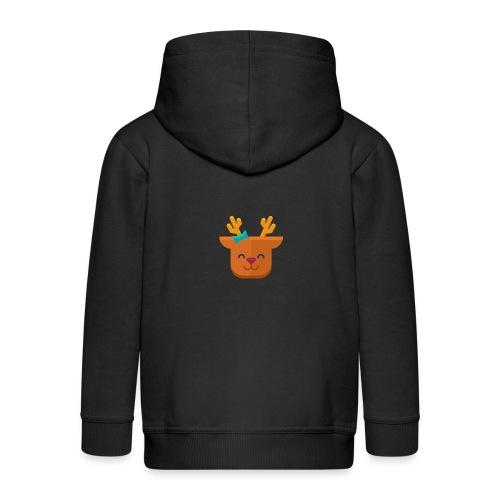 When Deers Smile by EmilyLife® - Kids' Premium Zip Hoodie