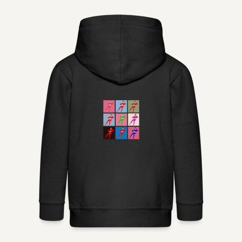 Stańczyk Warhol bez tla - Rozpinana bluza dziecięca z kapturem Premium