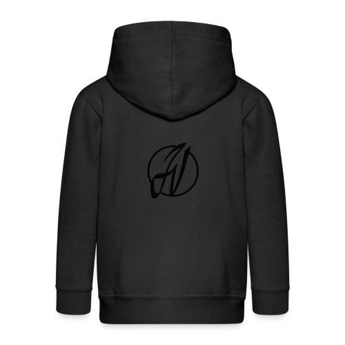 JV Guitars - logo noir - Veste à capuche Premium Enfant