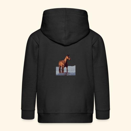 pferd im wasser - Kinder Premium Kapuzenjacke