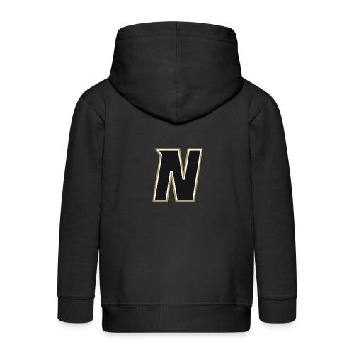 Nordic Steel Black N - Kids' Premium Zip Hoodie