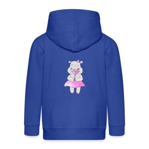 Happy Hippo - Kinder Premium Kapuzenjacke