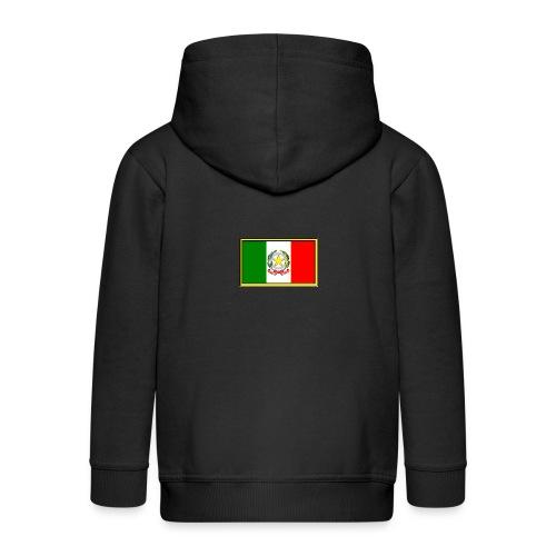 Bandiera Italiana - Felpa con zip Premium per bambini