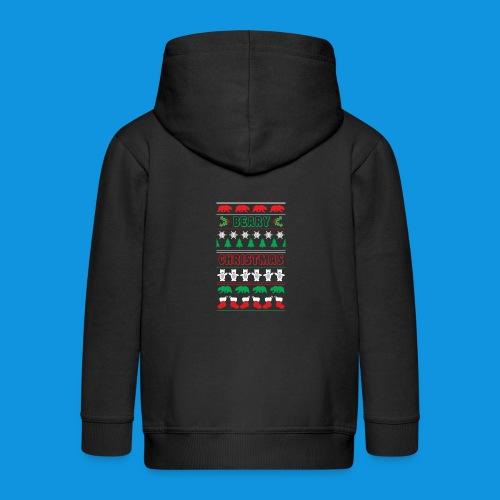 Beary Christmas.png - Kids' Premium Zip Hoodie