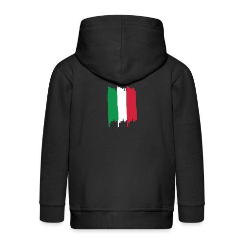 Italy Flag - Chaqueta con capucha premium niño