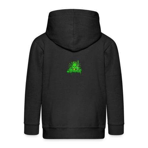 GFSkullOnlyColorShirt - Kids' Premium Zip Hoodie
