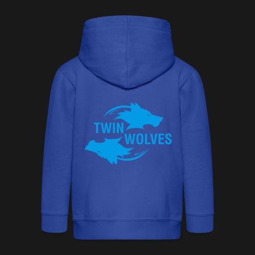 Twin Wolves Studio - Felpa con zip Premium per bambini
