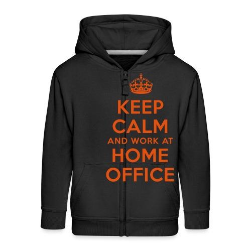 KEEP CALM and work at HOME OFFICE - Kinder Premium Kapuzenjacke