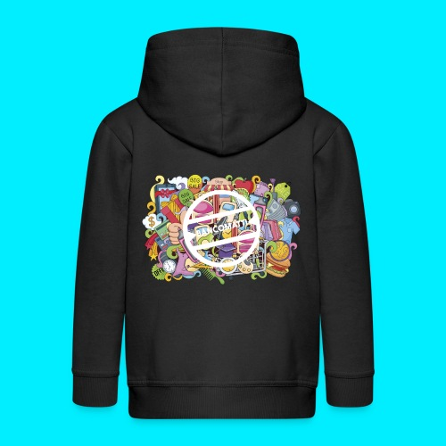 maglia logo doodle - Felpa con zip Premium per bambini