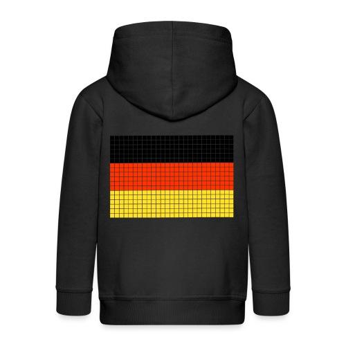 german flag.png - Felpa con zip Premium per bambini