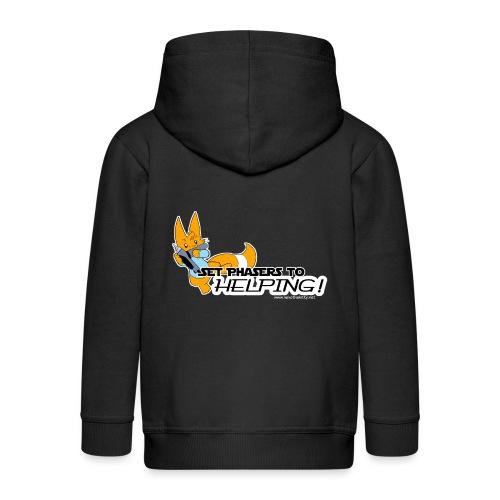 Set Phasers to Helping - Kids' Premium Hooded Jacket