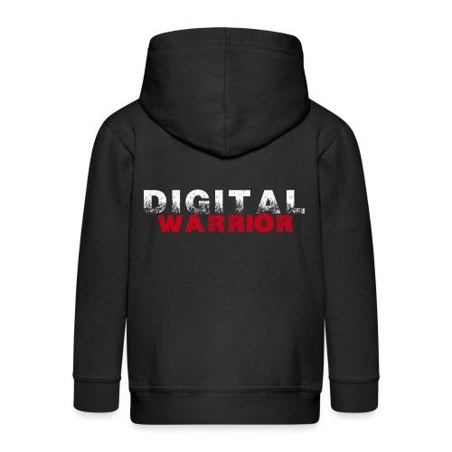 DIGITAl WARRIOR II - Rozpinana bluza dziecięca z kapturem Premium
