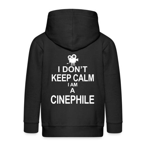 cinephile - cynamonowiec - Rozpinana bluza dziecięca z kapturem Premium