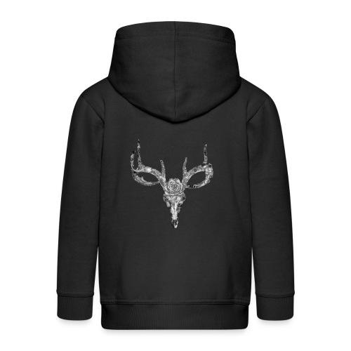 Deer skull with rose - Lasten premium hupparitakki