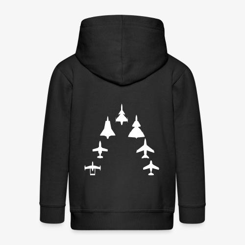 Swedish Air Force - Jet Fighter Generations - Premium-Luvjacka barn