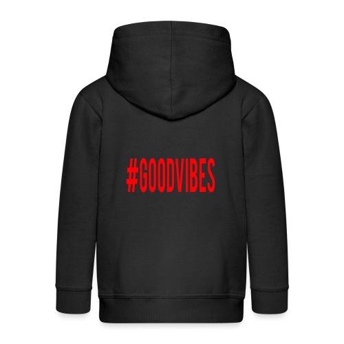 GOODVIBES_RED - Felpa con zip Premium per bambini