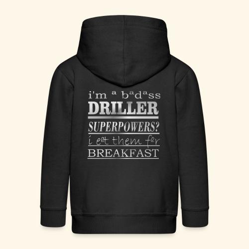 DRILLER - Felpa con zip Premium per bambini