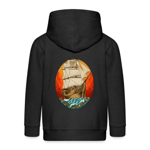 Segelschiff - Kinder Premium Kapuzenjacke