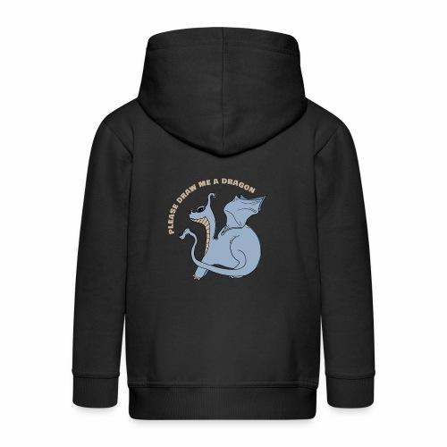 Dessine moi un dragon (version bleue marine) - Veste à capuche Premium Enfant