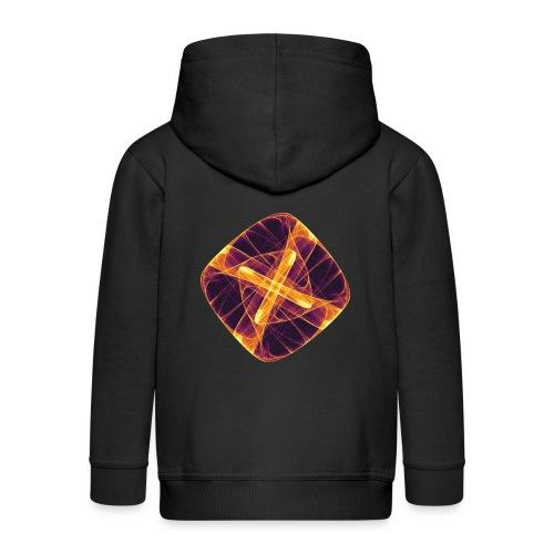 Chakra Mandala Mantra OM Chaos Star Circle 12255i - Kids' Premium Hooded Jacket