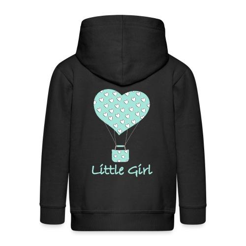 Little Girl in mongolfiera - Felpa con zip Premium per bambini