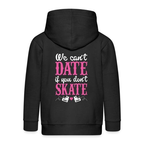 datwe skate - randkowa łyżwa - Rozpinana bluza dziecięca z kapturem Premium