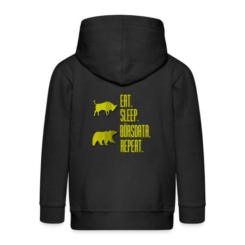 Eat. Sleep. Börsdata. Repeat - Premium-Luvjacka barn