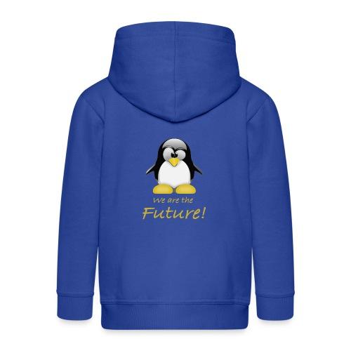 pinguin we are the future - Felpa con zip Premium per bambini