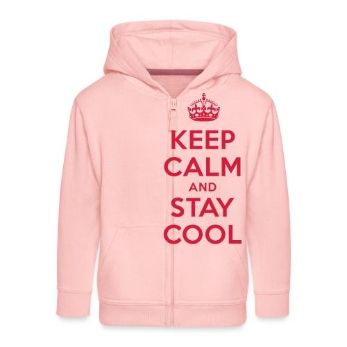 KEEP CALM and STAY COOL - Kinder Premium Kapuzenjacke