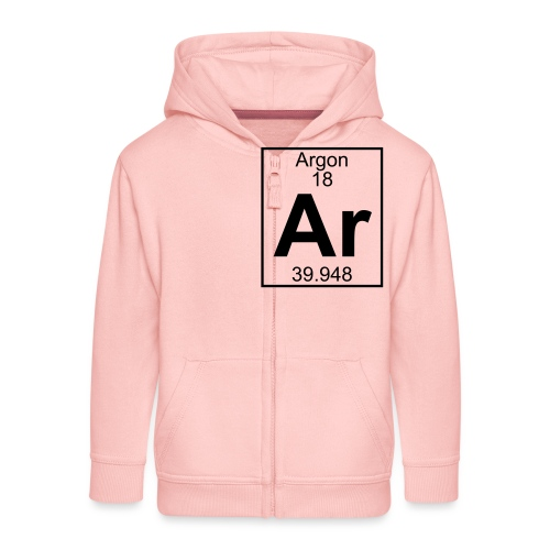 Argon (Ar) (element 18) - Kids' Premium Zip Hoodie
