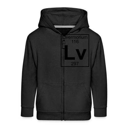 Livermorium (Lv) (element 116) - Kids' Premium Zip Hoodie