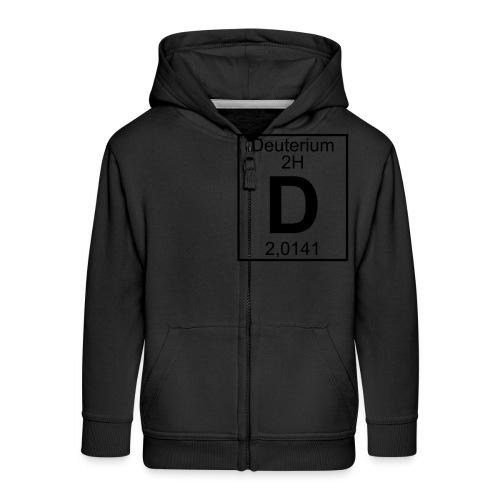 D (Deuterium) - Element 2H - pfll - Kids' Premium Zip Hoodie