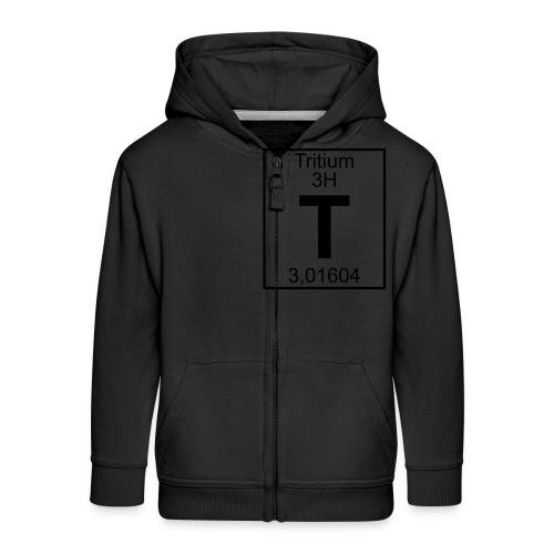T (tritium) - Element 3H - pfll - Kids' Premium Zip Hoodie