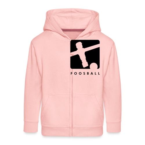 Foosball - Kickershirt - Kinder Premium Kapuzenjacke