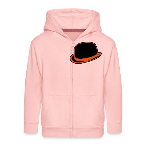 Horrorshow Orange Bowler Hat Melone Hut Clown Alex - Kinder Premium Kapuzenjacke