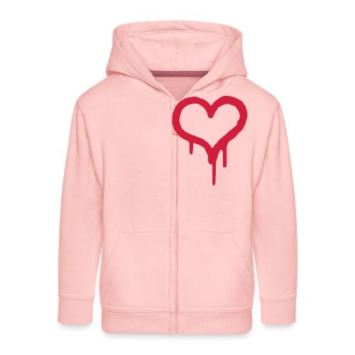 LOVE - Kinder Premium Kapuzenjacke