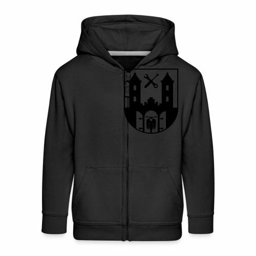 Simson Schwalbe - Suhl Coat of Arms (1c) - Kids' Premium Zip Hoodie
