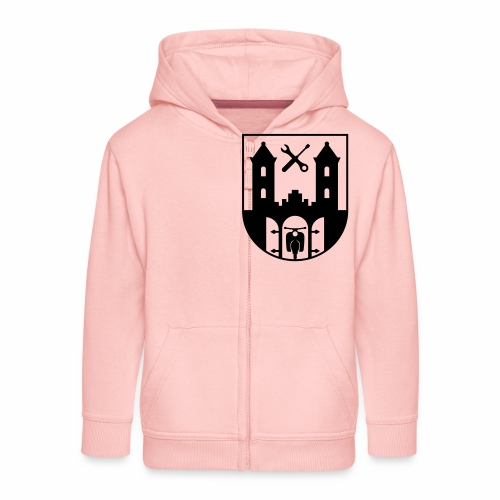 Simson Schwalbe - Suhl Coat of Arms (1c) - Kids' Premium Zip Hoodie