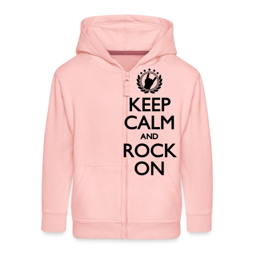Keep Calm And Rock ON - Kinder Premium Kapuzenjacke