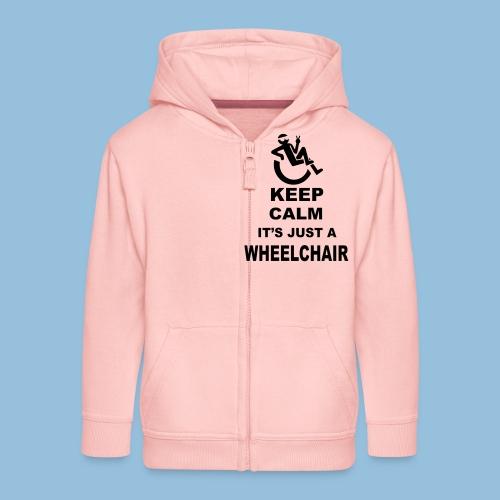 Keepcalmjustwheelchair2 - Kinderen Premium jas met capuchon