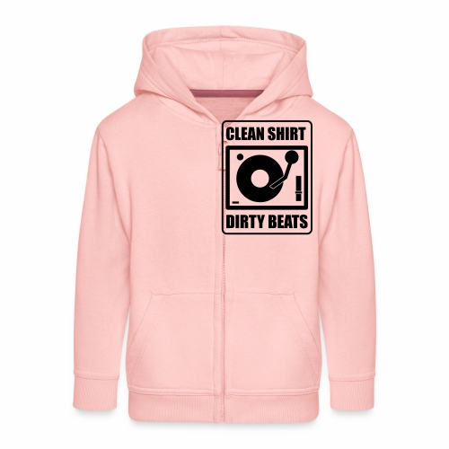 Clean Shirt Dirty Beats - Kinderen Premium jas met capuchon