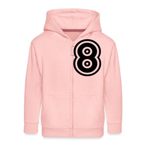 cool number 8 - Kinderen Premium jas met capuchon