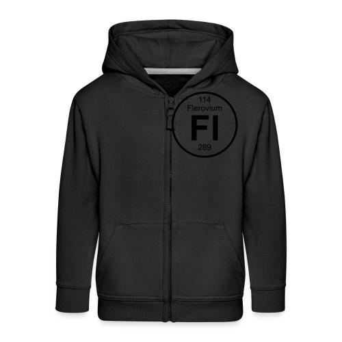 Flerovium (Fl) (element 114) - Kids' Premium Zip Hoodie