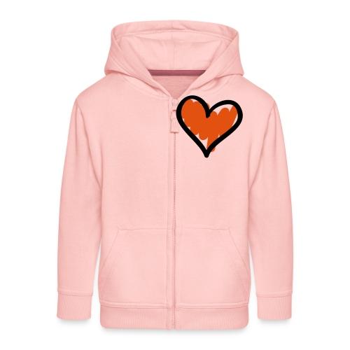 Heart Symbol Pixellamb - Kinder Premium Kapuzenjacke