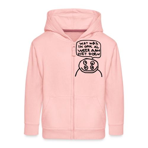 watwasikookalweeraanhetdoen - Kinderen Premium jas met capuchon