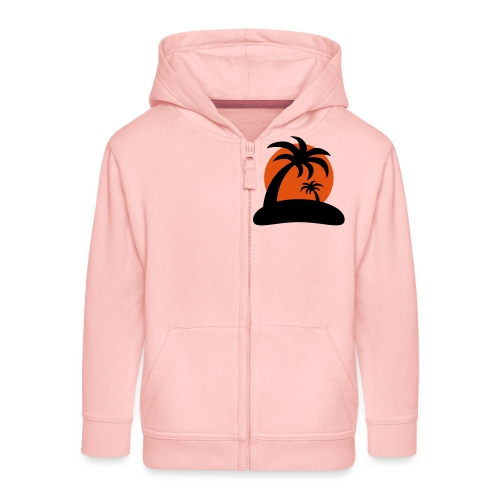 palm island sun - Kinderen Premium jas met capuchon