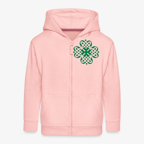 Shamrock Celtic knot decoration patjila - Kids' Premium Zip Hoodie