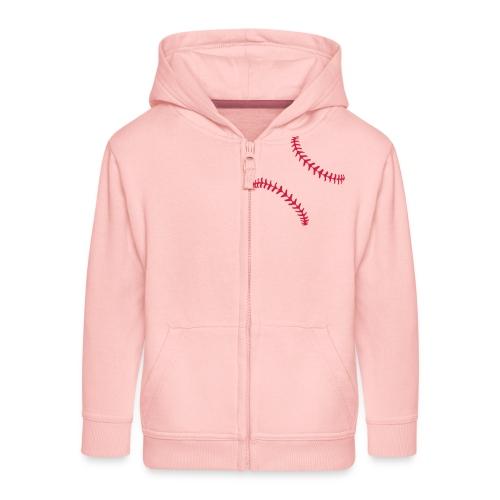 Realistic Baseball Seams - Kids' Premium Zip Hoodie