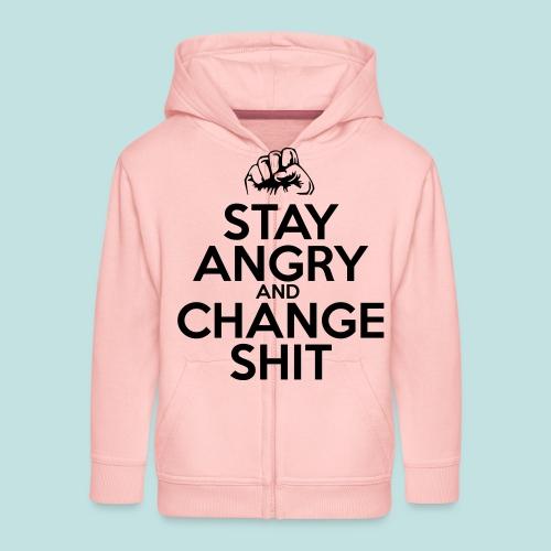 Stay Angry - Kids' Premium Zip Hoodie