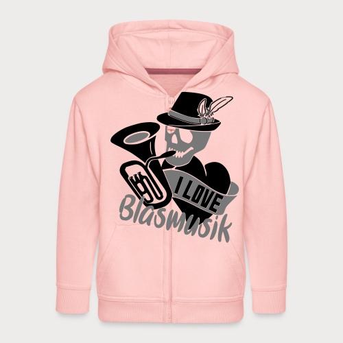 I love Blasmusik - Kinder Premium Kapuzenjacke
